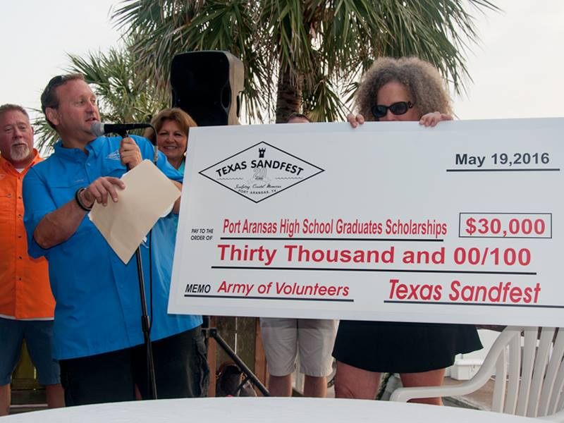 $30,000 check for scholarships