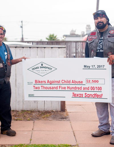 2017 Check to Bikers Against Child Abuse