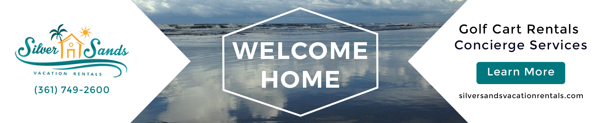 Welcome Home. Silver Sands Vacation Rentals. Golf Cart Rentals. Concierge Services.